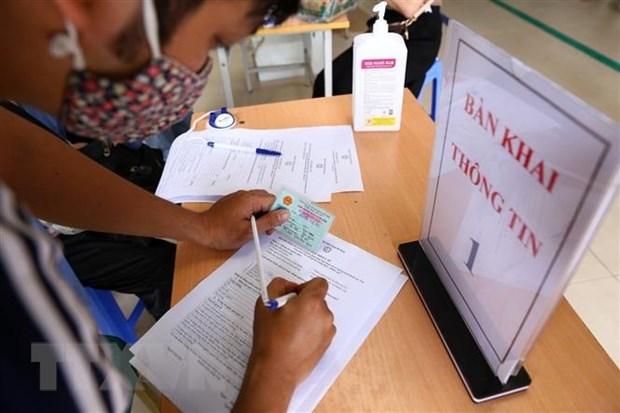 Tất cả bệnh viện ở Thành phố Hồ Chí Minh triển khai khai báo y tế điện tử thay cho khai bản giấy. Ảnh minh họa: TTXVN