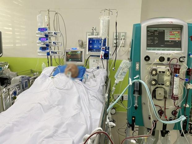 Bệnh nhân COVID-19 được điều trị tại Bệnh viện Chợ Rẫy. Ảnh: TTXVN phát