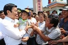 Chủ tịch nước Trương Tấn Sang thăm quê hương Hải đội hùng binh Hoàng Sa
