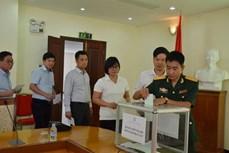 越南驻柬埔寨大使馆开展赈灾捐款活动援助国内灾民