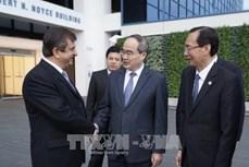 胡志明市领导会见美国各技术集团领导