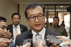 Tòa sơ thẩm Phnom Penh (Campuchia) phạt tù cựu Chủ tịch đảng đối lập Sam Rainsy