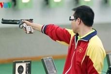 越南选手黄春荣在2017年东南亚射击锦标赛中夺金