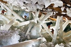 Hang pha lê khổng lồ Naica đẹp như trong phim viễn tưởng