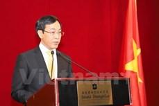 越中建交68周年招待会在香港举行