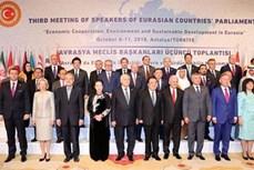 越南国会主席阮氏金银出席第三届亚欧国家议长会议开幕式
