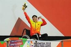 2018年亚残运会:游泳运动员武青松夺下第二枚金牌