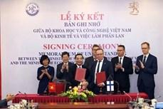 越南与芬兰签署科技与创新合作备忘录