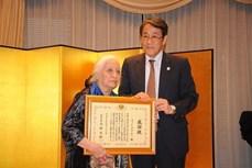 潘辉黎教授被日本外务省大臣追授奖状