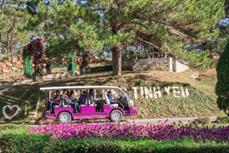 越南大叻市为游客试点观光电车