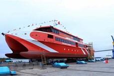 海防市:36号昆岛Express双体高速客船成功下水