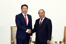 政府总理阮春福会见韩国SK集团董事长崔泰源