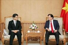 越南政府副总理郑廷勇会见日本客人