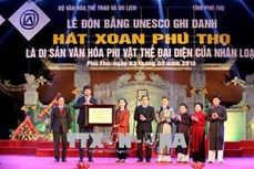 Hát Xoan Phú Thọ đón Bằng công nhận là Di sản Văn hóa phi vật thể đại diện của nhân loại