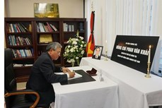 世界多国隆重举行前总理潘文凯吊唁仪式