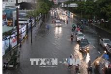 Mưa lớn trên diện rộng gây ngập nhiều nơi tại Thành phố Hồ Chí Minh