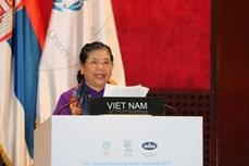 越南国会常务副主席丛氏放在第141届各国会议联盟大会上发表重要讲话
