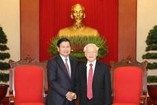 越共中央总书记、国家主席阮富仲会见老挝政府总理通伦·西苏里