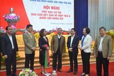 Thường trực Ban Bí thư Trần Quốc Vượng tiếp xúc cử tri thành phố Yên Bái