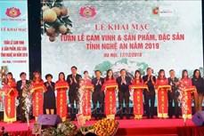 """Khai mạc """"Tuần lễ cam Vinh và sản phẩm, đặc sản Nghệ An 2019"""" tại Hà Nội"""