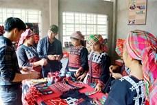 Người Xa Phó ở Nậm Kéng thêu thổ cẩm làm du lịch