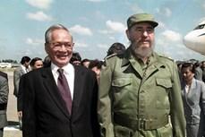 中老柬古四国领导就原越南国家主席黎德英逝世致唁电