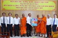 Thủ tướng Nguyễn Xuân Phúc chúc Tết Chôl Chnăm Thmây tại Học viện Phật giáo Nam tông Khmer