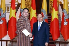 越南政府总理阮春福会见不丹国家委员会主席塔希·多吉