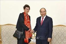 越南政府总理阮春福会见挪威驻越南大使格莱特•洛兴
