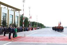 越南政府总理阮春福欢迎仪式在俄罗斯首都莫斯科举行