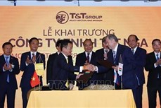 越南政府总理阮春福出席越南T&T 有限公司(俄罗斯)开业典礼