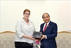 政府总理阮春福会见澳大利亚外交部长玛丽斯•佩恩
