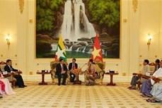 政府副总理王廷惠拜会缅甸国家顾问昂山素季