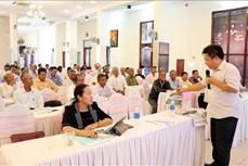 Tập huấn phổ biến chủ trương, chính sách đến người có uy tín trong đồng bào dân tộc thiểu số ở Ninh Thuận