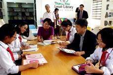 韩国资助越南学校兴建小型校园图书馆