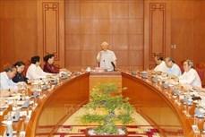 越共中央总书记、国家主席阮富仲主持召开越共十三大文件起草小组会议