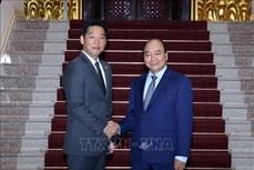 政府总理阮春福会见日本永旺(越南)总经理岩村康嗣