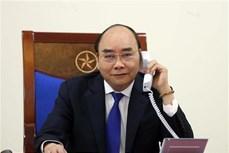 越南政府总理阮春福与澳大利亚总理通电话