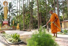 Đồng bào Khmer ở Hậu Giang đón Tết Chôl Chnăm Thmây vui tươi, an toàn trong mùa dịch COVID-19