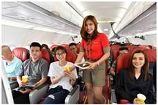 越捷航空在实施社会隔离期间仍执行定期客运航班和货运航班