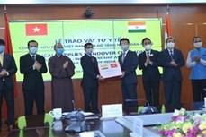 越南与印度友好协会向印度人民捐赠10万只抗菌口罩