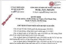 Dịch COVID-19: Tiếp tục phong tỏa thôn Tả Kha và cách ly Trạm Y tế xã Thanh Thủy, Hà Giang