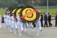 Lãnh đạo Đảng, Nhà nước viếng Lăng Bác nhân 45 năm Ngày Giải phóng miền Nam, thống nhất đất nước