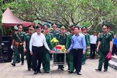 Hà Giang truy điệu và an táng hài cốt các liệt sỹ tại Nghĩa trang liệt sỹ quốc gia Vị Xuyên