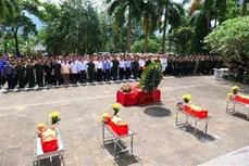 河江省为在捍卫祖国北方边界战争中英勇牺牲的烈士们举行追悼和安葬仪式