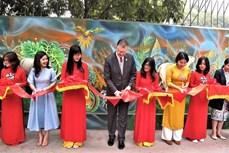 """河内市""""清洁环境——绿色星球""""壁画项目竣工验收"""