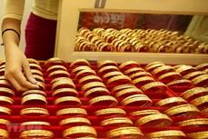 今日上午越南国内市场黄金价格持续上涨