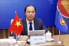 越南外交部副部长阮国勇出席东盟与英国外长三方视频对话会