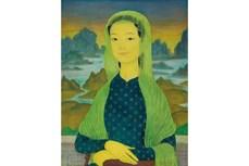 越南著名画家梅忠次的绘画作品《蒙娜丽莎》即将在香港拍卖