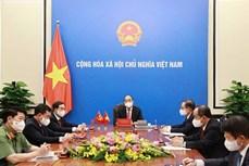 越南国家主席阮春福与中共中央总书记、国家主席习近平通电话